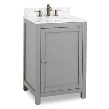 Jeffrey Alexander Astoria Modern 24 Inch Grey Single Vanity