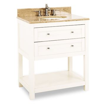 Jeffrey Alexander Astoria Modern 30 Inch Cream White Single Vanity