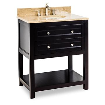 Jeffrey Alexander Astoria Modern 30 Inch Espresso Single Vanity