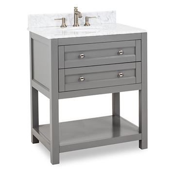 Jeffrey Alexander Astoria Modern 30 Inch Grey Single Vanity