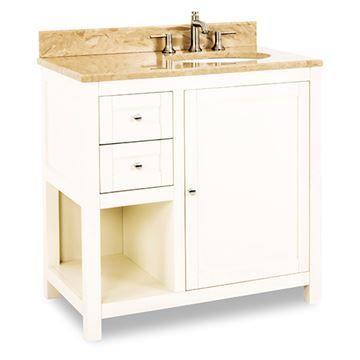 Jeffrey Alexander Astoria Modern 36 Inch Cream White Single Vanity