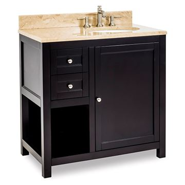Jeffrey Alexander Astoria Modern 36 Inch Espresso Single Vanity