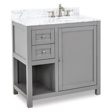 Jeffrey Alexander Astoria Modern 36 Inch Grey Single Vanity