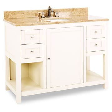 Jeffrey Alexander Astoria Modern 48 Inch Cream White Single Vanity