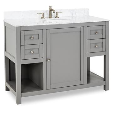 Jeffrey Alexander Astoria Modern 48 Inch Grey Single Vanity