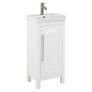 Jeffrey Alexander Cade Contempo 18 Inch White Single Vanity