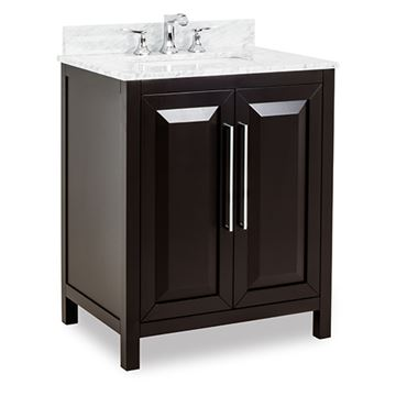Jeffrey Alexander Cade Contempo 30 Inch Black Single Vanity