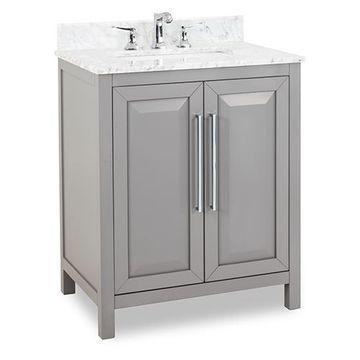 Jeffrey Alexander Cade Contempo 30 Inch Grey Single Vanity