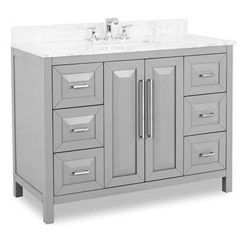 Jeffrey Alexander Cade Contempo 48 Inch Grey Single Vanity