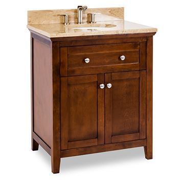 Jeffrey Alexander Chatham Shaker 30 Inch Chocolate Single Vanity