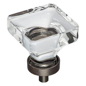 Jeffrey Alexander Harlow Large Glass Square Knob