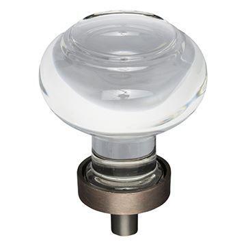 Jeffrey Alexander Harlow Small Glass Button Knob