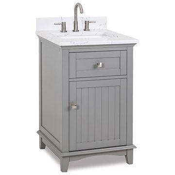 Jeffrey Alexander Savino 24 Inch Grey Single Vanity