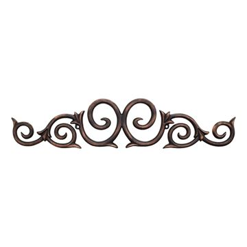 Legacy Heritage Scroll Metal Applique
