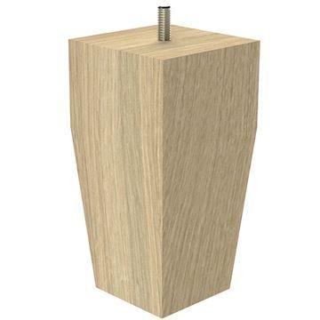 Designs of Distinction Square Craftsman Bun Foot with Hanger Bolt