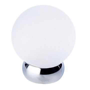 Lewis Dolin Frosted Glass Ball Knob