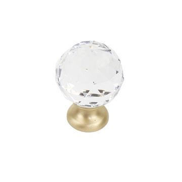 Century Hardware Glamour 30MM Clear Faceted Crystal Knob