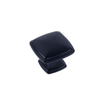 Century Hardware Matte Black Square Knob