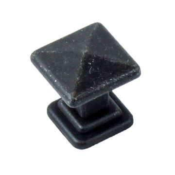 Century Hardware Raw Authentic 1 Inch Square Knob