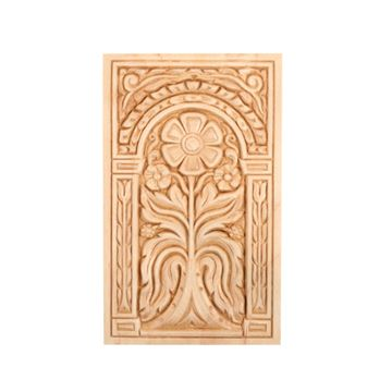 Restorers Floral Vertical Embossed Birch Applique