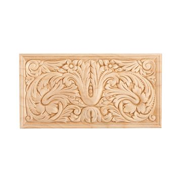 Restorers 8 3/8 Rectangular Embossed Birch Applique
