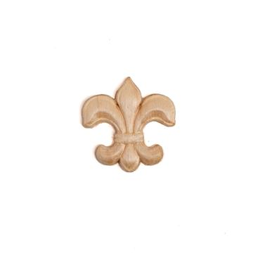 Restorers Fleur-de-Lis Embossed Birch Applique