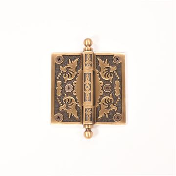Brass Accents 3 1/2 Inch Filigree Door Hinges with Ball Tip