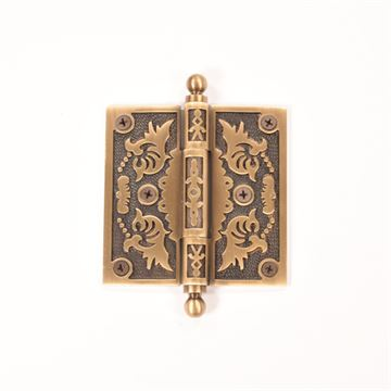 Brass Accents 4 Inch Filigree Door Hinges with Ball Tip - Pair