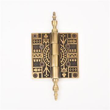 Brass Accents 3 1/2 Inch Eastlake Door Hinges with Steeple Tip