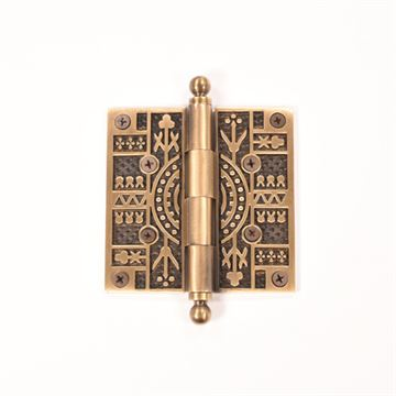 Brass Accents 4 Inch Eastlake Door Hinges with Ball Tip - Pair