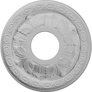 Restorers Architectural 11 3/8 Inch Leaf Prefinished Ceiling Medallion