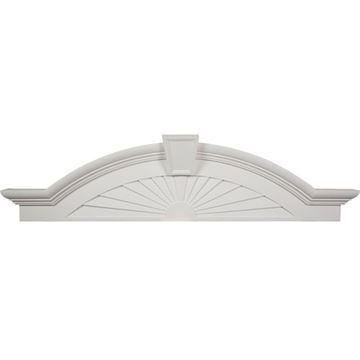 Restorers Architectural 62 1/2 Elliptical Sunburst Urethane Pediment