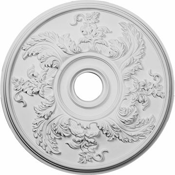 Restorers Architectural Acanthus Twist Prefinished Ceiling Medallion