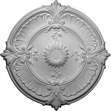 Restorers Architectural Attica Acanthus Prefinished Ceiling Medallion