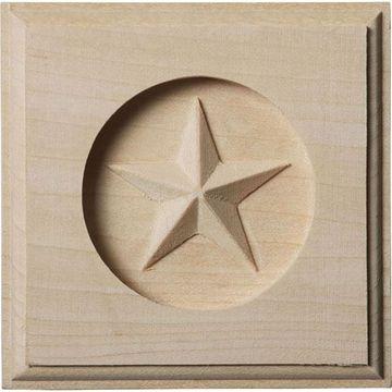 Restorers Architectural Austin Star Rosette Applique