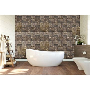 Restorers Architectural Boca Boat Wood Mosaic Wall Tile
