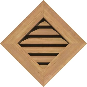 Restorers Architectural Diamond Cedar Flat Trim Frame Gable Vent
