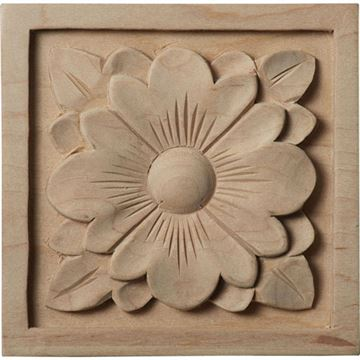 Restorers Architectural Dogwood Flower Square Rosette Applique