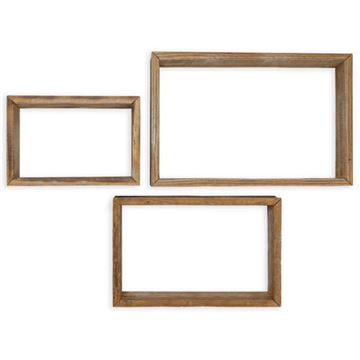 Restorers Architectural Farmhouse Rectangle Open Set 3 Shadow Boxes