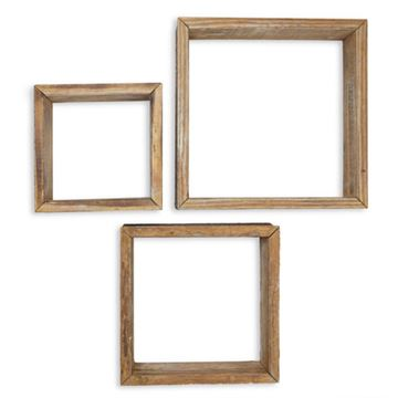 Restorers Architectural Farmhouse Square Open Set 3 Shadow Boxes
