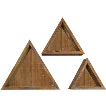 Restorers Architectural Farmhouse Triangle Closed Set 3 Shadow Boxes