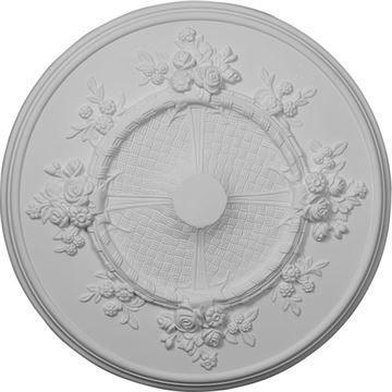 Restorers Architectural Flower 27 Prefinished Ceiling Medallion