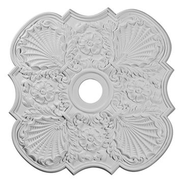 Restorers Architectural Flower 29 Prefinished Ceiling Medallion