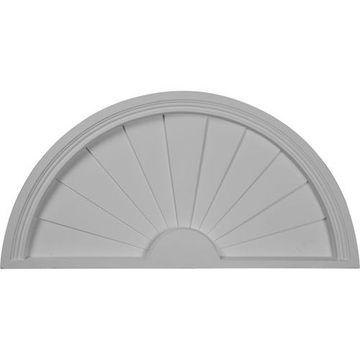 Restorers Architectural Half Round 31 3/4 Sunburst Urethane Pediment