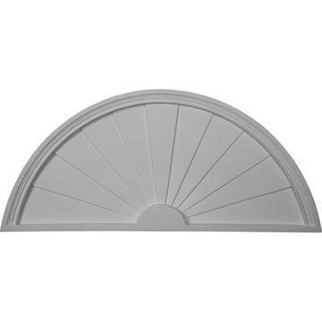 Restorers Architectural Half Round 40 Sunburst Urethane Pediment