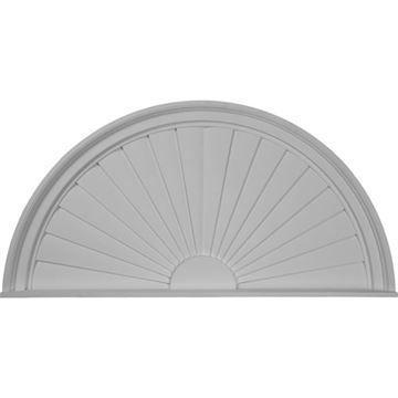 Restorers Architectural Half Round Sunburst 40 Urethane Pediment