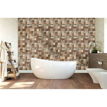 Restorers Architectural Heritage Boat Wood Mosaic Wall Tile