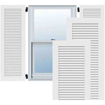 Restorers Architectural Louvered PVC Shutters - Pair