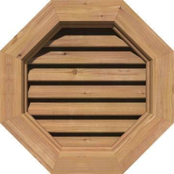 Restorers Architectural Octagonal Cedar Brickmould Frame Gable Vent