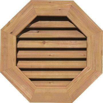 Restorers Architectural Octagonal Cedar Flat Trim Frame Gable Vent